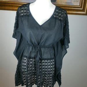 Lucky Brand Black Swimsuit Cover Up Large